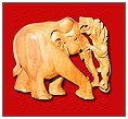 Sandal Wood Elephant Lion