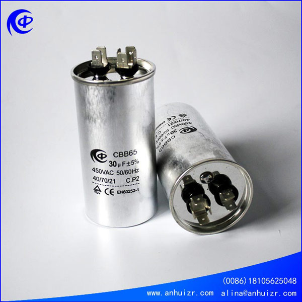 air conditioner capacitor cbb65 air compressor capacitor
