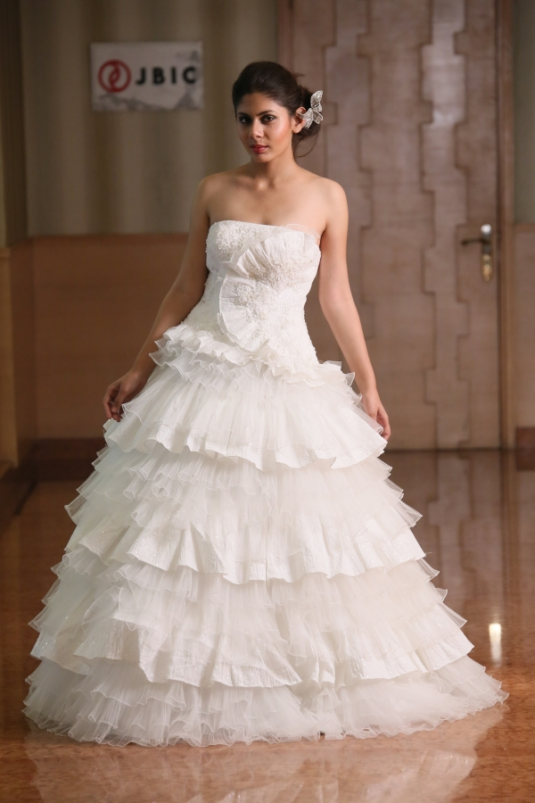 Tafetta Organza Designer Wedding Ball Gown