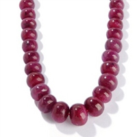 Ruby Smooth Roundel Beads