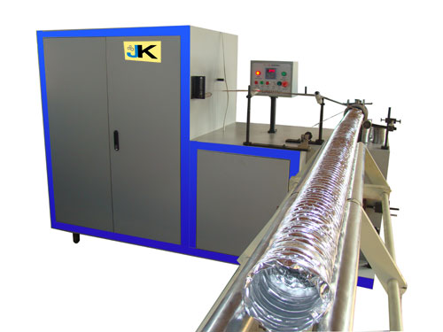 Aluminum flexible duct machine