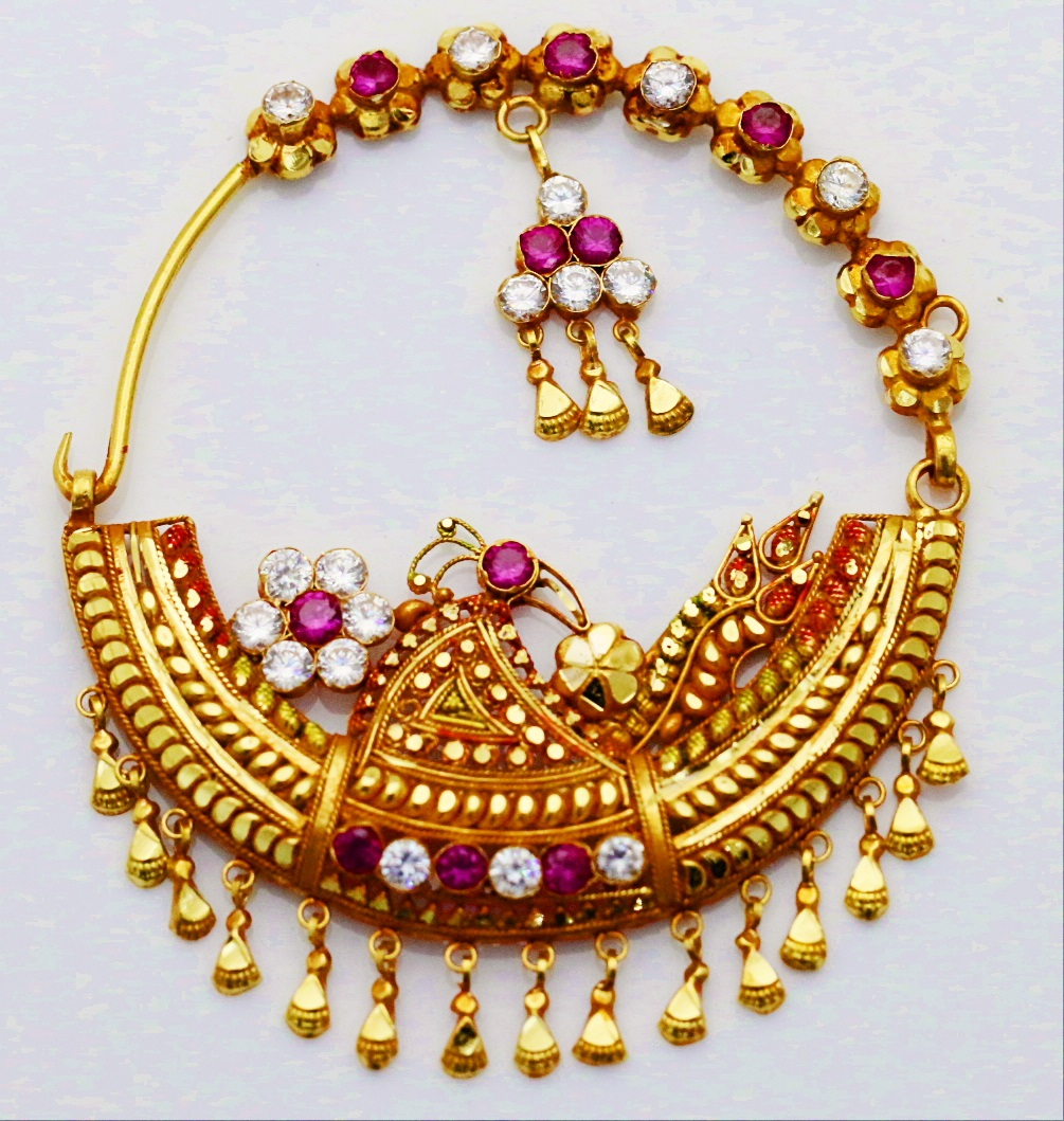 Color Lane Ethnic Golden Brass Bangle Set Traditional Designer Jewellery Size-M JAB-85