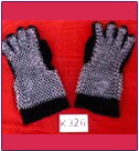 CHAIN MAIL GLOVES & STEEL GAUNTLETS