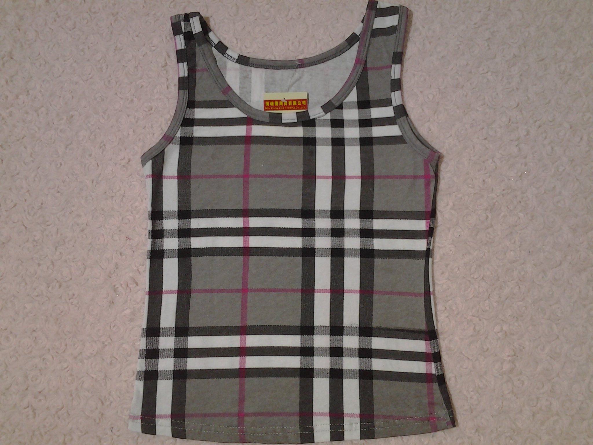 fashion designed checked vest