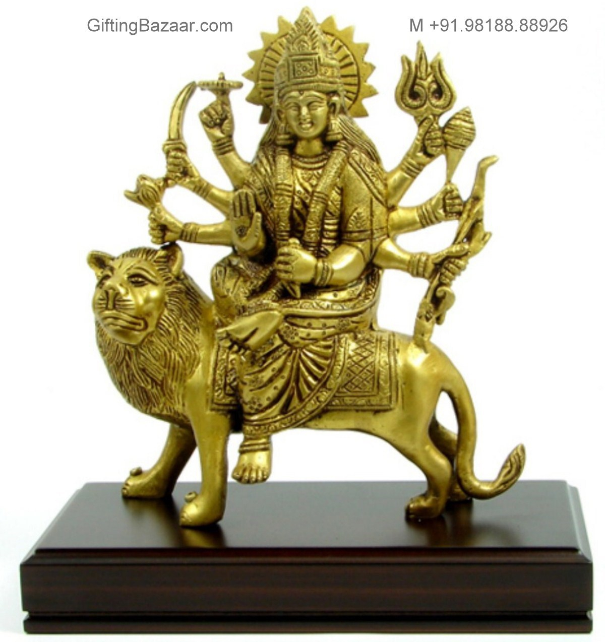 Durga in Brass