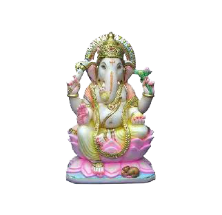 Colorful Marble Ganesh