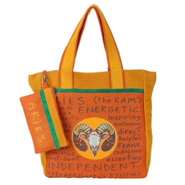 Colourful Zodiac Sign Tote Bag