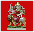White Marble Durga Ji