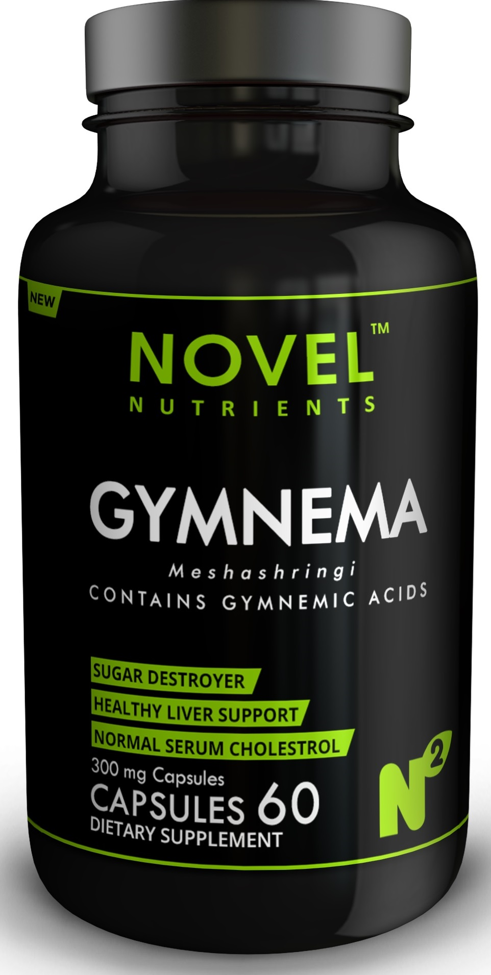 Gymnema (Meshashringi) - Diabetic support 300 mg 60 Capsules
