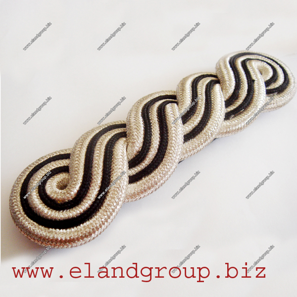 5 PLY Silver & Black Shoulder Cord