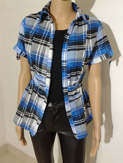 womens plaid blouse